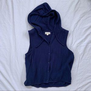 Cloth & Stone Sleeveless Hooded Top